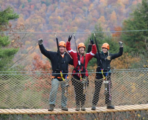 Zipline Canopy Tour at Bristol Mountain Aerial Adventures